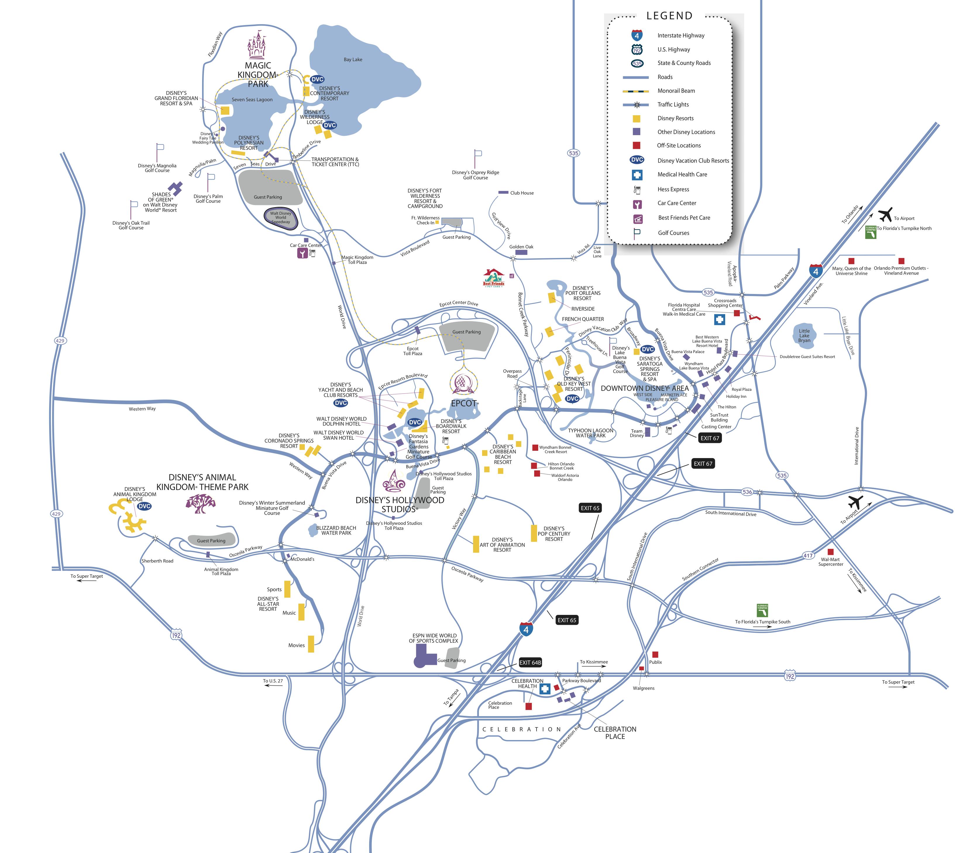 Walt Disney World Map With Hotels.Disney World Map Bferryhomes Com And 1031orlando Com